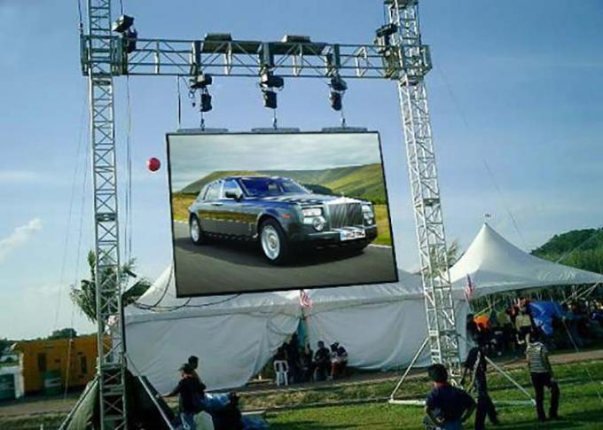 Full Color P4.81 Outdoor Rental LED Display High Refresh Rate Wide Viewing Angle