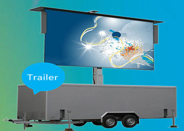 Trailer Vehicle LED Display , Led Mobile Billboard Low Consumption Power
