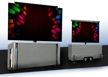 Fixed High Brightness Truck Mounted Led Screen , SMD3535 Mobile Led Signs
