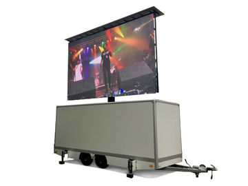 HD LED Advertising Trailer , Mobile Led Display Screen With Lifting System