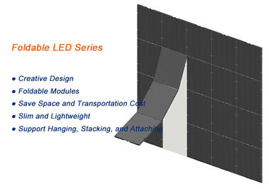 Foldable Flexible LED Display Aluminum Material Space Saving 2 Years Warranty