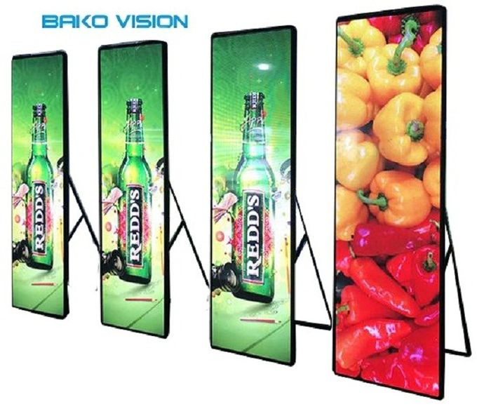 High Definition Digital LED Poster Display P2.5 Easy To Control For Retail Shop Store Advertising 0